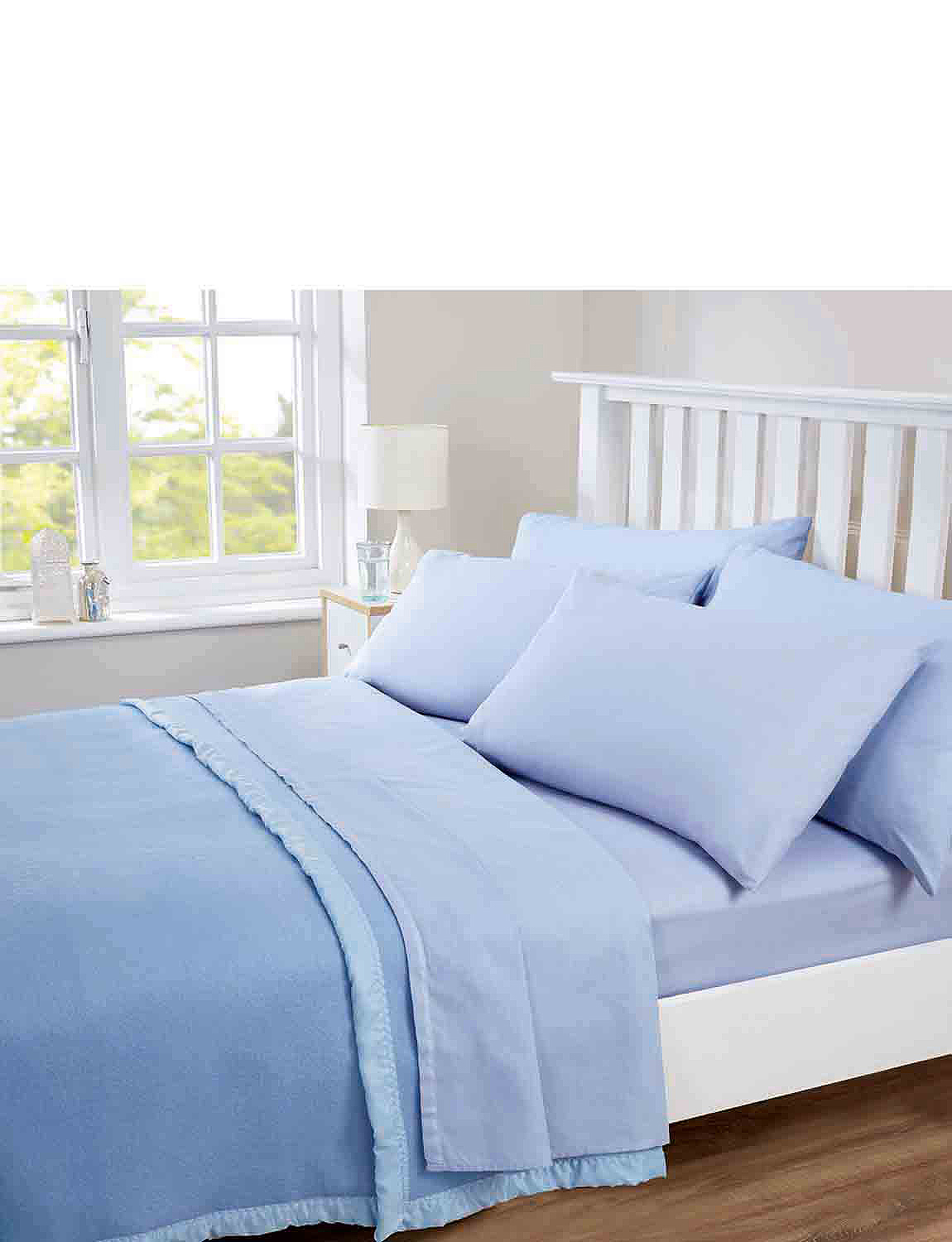 CLEARANCE WHITE KING SIZE QUILT COVER/&FITTED SHEET SET 50//50 EASYCARE POLYCOTON