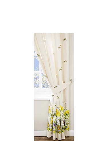 Bluebell Meadow by Belledorm Lined Curtains with Free Tiebacks