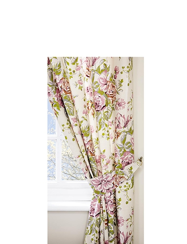 Rose Boutique Curtains with Free Tiebacks