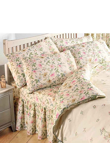 Cottage Garden - Fitted Valance Sheet