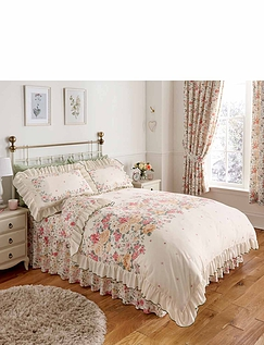 Summertide Luxury Frilled Quilt Set