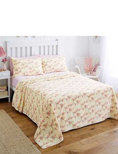 Rosa Flannelette Sheet Set