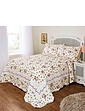 Cottage Rose Quilted Bedspread Set