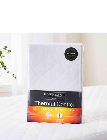 Thermal Control Mattress Protector  - White