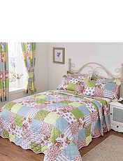 Sarah Quilted Patchwork Bedspread