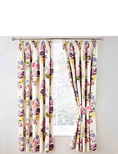 Floral Bouquet Theral Lined Blackout Curtains
