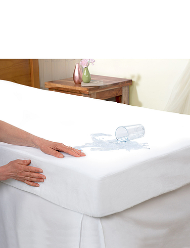 Luxury Waterproof Flannelette Mattress Protector With 15 Inch Skirt