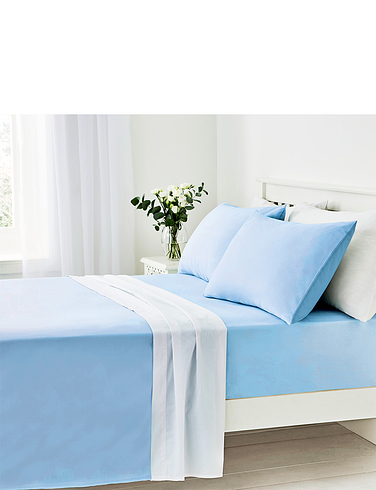 Easy Care 180 Thread Count Cotton Flat Sheet
