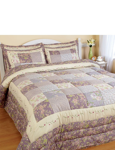 Lavender Authentic Patchwork Bedspread