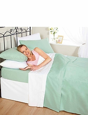 Plain Dyed Napguard Flannelette Sheets and Pillowcases By Vantona